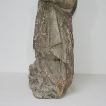 Beautiful stone statue of saint Nicholas, France 17th century