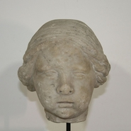 Beautiful Angel head in marble, Italy circa 1650-1700