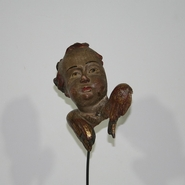 Baroque wooden angel head , Italy circa 1750