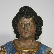 Unique baroque Reliquary busts in wood, Italy circa 1650-1700