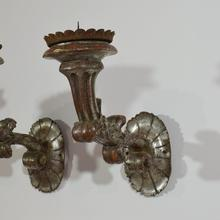 Couple of baroque style candleholders or sconces, Italy circa 1850