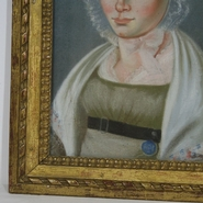 Pastel portrait of a young woman, France dated 1817