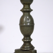 Beautiful and very rare pewter candlestick with angel heads