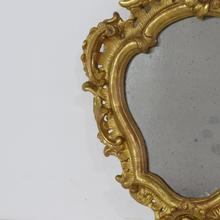 Small giltwood baroque mirror, Italy 18th century