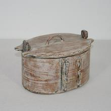Small folk art bentwood box, Sweden circa 1750