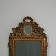 Small giltwood Louis XVI Style mirror, France 19th century