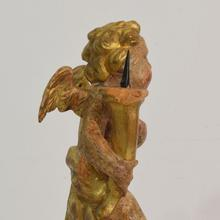 Small baroque angel with candleholder, Italy circa 1750