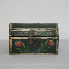 Very Small Folk Art Wedding Box , Normandie,France circa 1800-1850